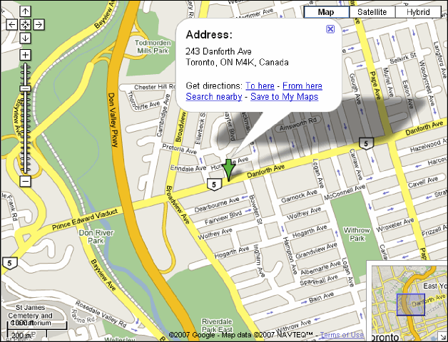 Google Map Global Pet Foods Toronto - Danforth Branch